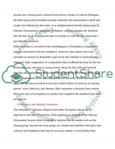 Gran Torino: Communication, Identity and History essay example