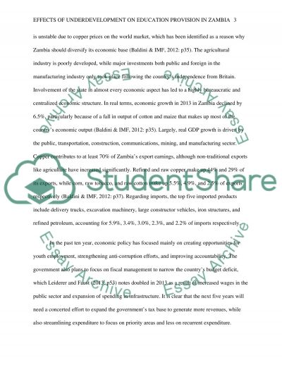 Education in International Development essay example