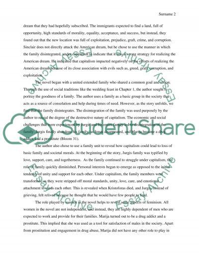 sinclair essay example