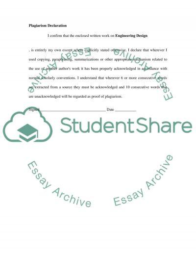 Engineering Design essay example