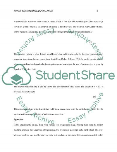 Torsion essay example