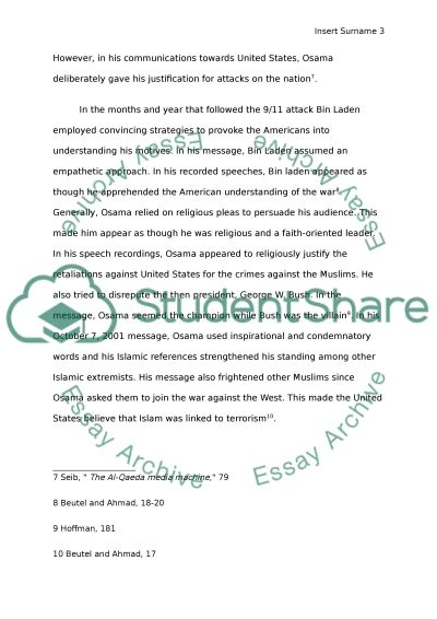 osama bin laden s communication and influence post essay text