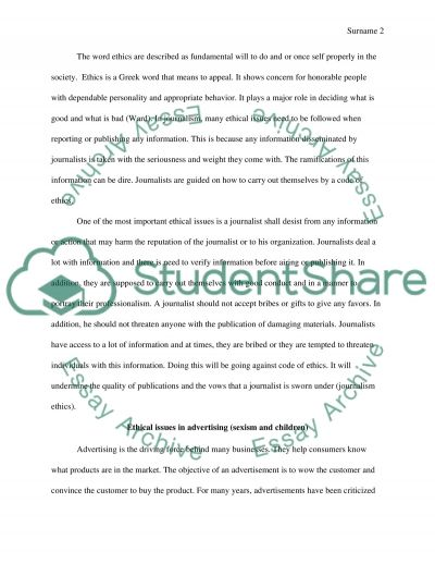 Ethics in communication essay example