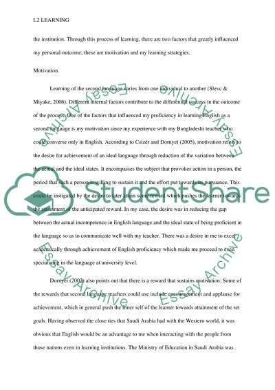 Examples Of Essays For High School  High School Dropout Essay also Essay Proposal Outline My Account Of Second Language Learning Essay Example  Topics For Essays In English