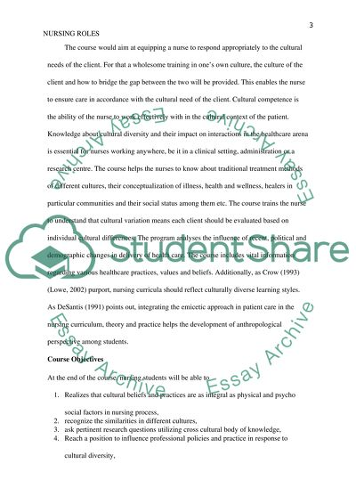 Course Nursing Roles In A Diverse Culture Essay Course Nursing Roles In A Diverse Culture Personal Essay Examples For High School also Eassy Writer  Spm English Essay