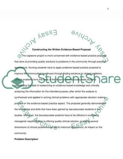 Constructing the Written Evidence-Based Proposal essay example