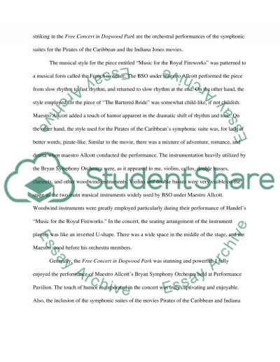 Concert Attendance Reports MUSIC essay example