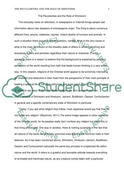 shinto current issues essay example topics and well written  shinto current issues essay example
