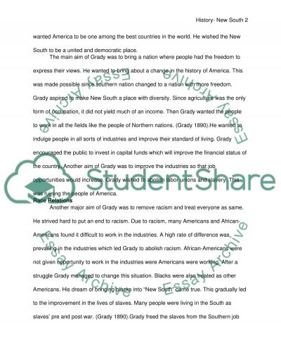 New South essay example
