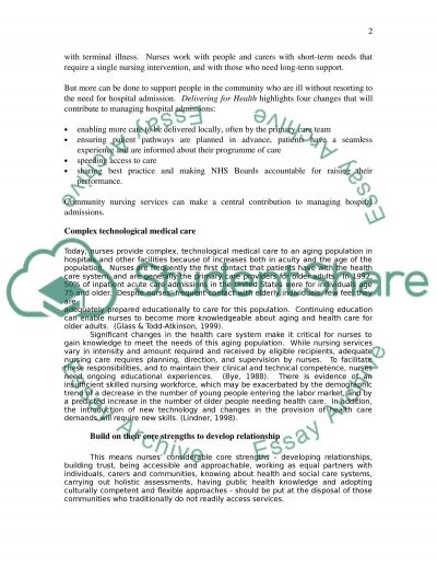 Caring role of the nurse essay example