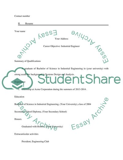 Cover letter and Resume letter