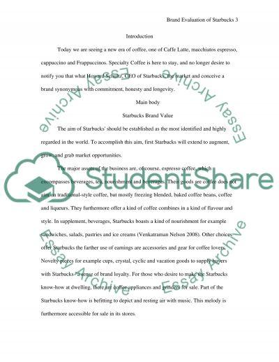 Brand Evaluation of Starbucks Coffee essay example