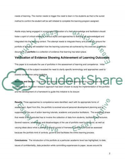 Mentorship essay example