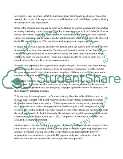 Persuasive Essay Topics For High School Students Human Resources Compare And Contrast Essay High School Vs College also The Importance Of English Essay Human Resources Essay Example  Topics And Well Written Essays    High School Essay Help