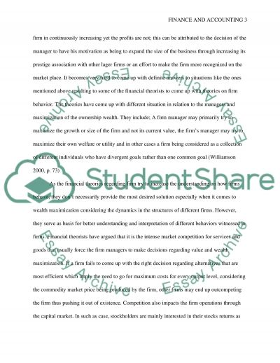 Business Finance essay example