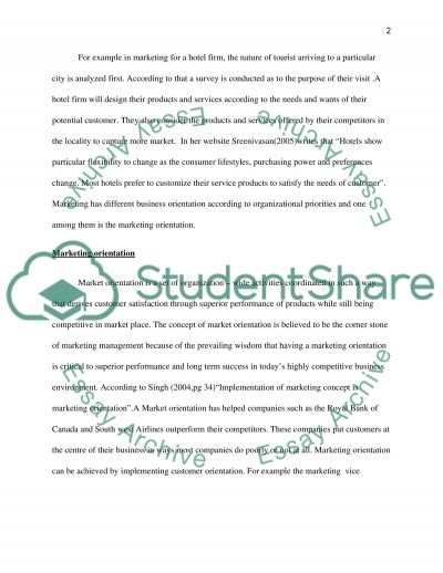 What do you Understand by Terms Marketing and Marketing Orientation essay example