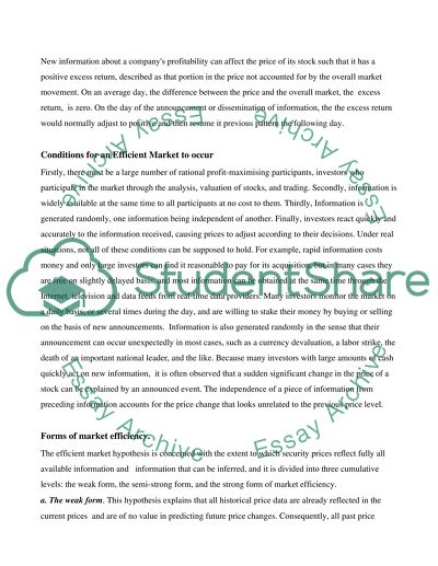Case Study Assignment Company Analysis