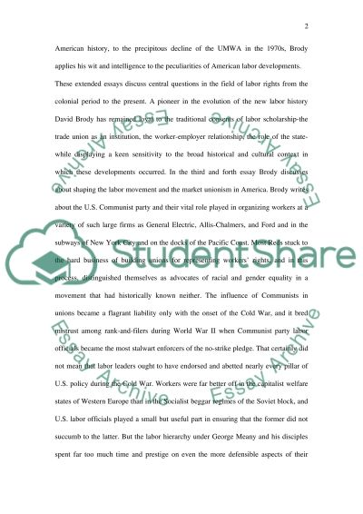 Book Review of In Labors Cause essay example