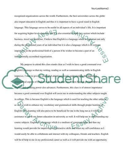 Last Year Of High School Essay  Research Proposal Essay Topics also English Essay Topics The Importance And Significance Of English Language Essay How To Write An Application Essay For High School