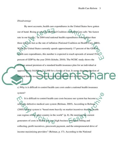 slp health care reform essay example  topics and well written  slp health care reform