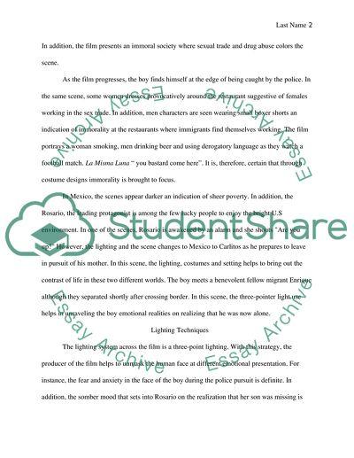 La Misma Luna Essay Example   Topics and Well Written Essays - 1000