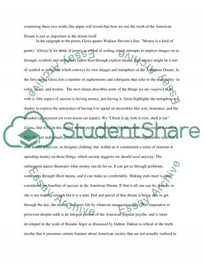 Money and Success Essay example