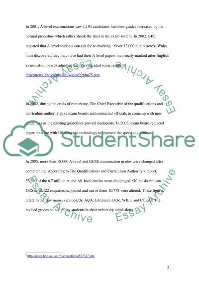 Remarking Public Exams essay example