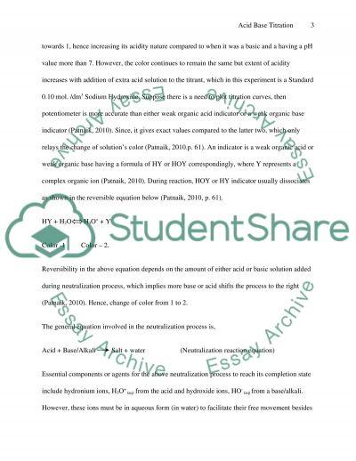 acid base titration lab report pdf