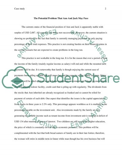 Financial Case Study essay example