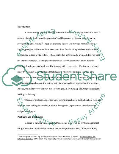 Writing Instruction: Assignment Design