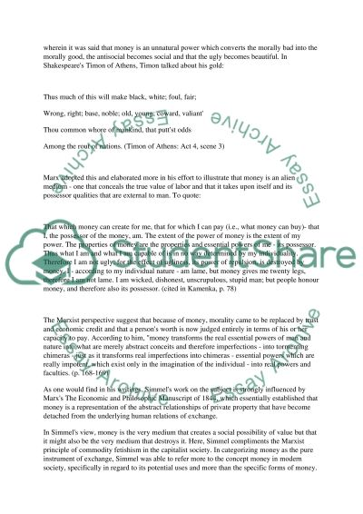 Good Compare Contrast Essay Topics Works Of Karl Marx And Georg Simmel Social Media Argumentative Essay also Julius Caesar Essay Works Of Karl Marx And Georg Simmel Essay Example  Topics And Well  Money Can Buy Happiness Essay