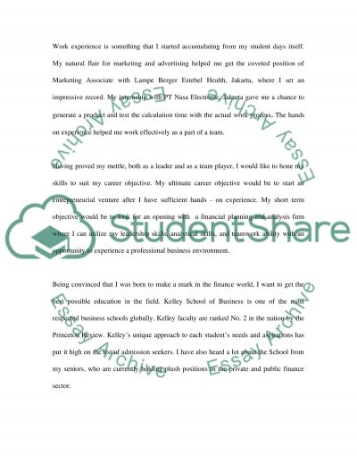 Master of Information Systems(personal statement) essay example