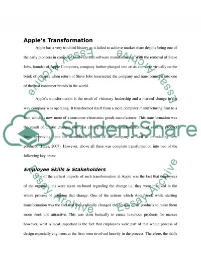 Organizational Change Paper essay example