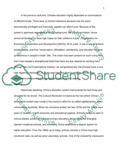 A Look at Shanghai, Chinas Education System essay example