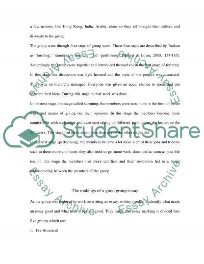 The importance of group work in educational process essay example