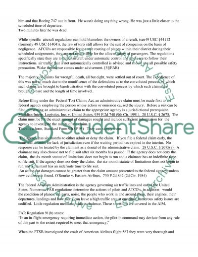 The Legal Liability of Air Traffic Controllers essay example