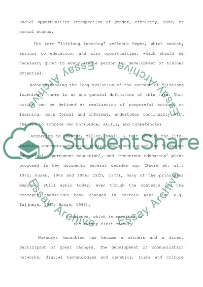 Lifelong learning essay essay example