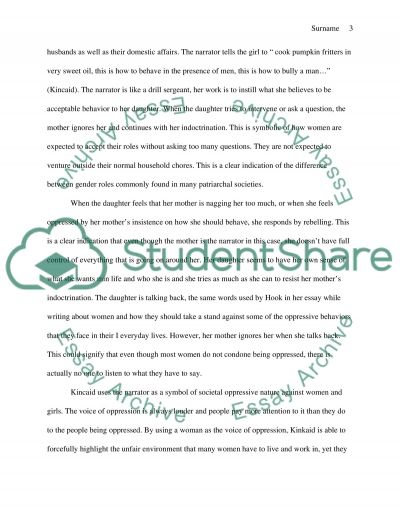 the narrator in the story girl by kincaid essay  girl by kincaid essay example text preview