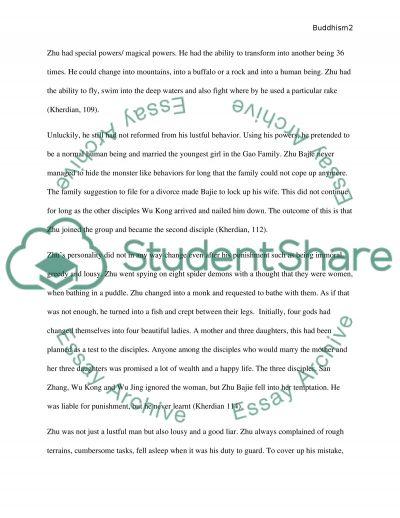 zhu bajie buddhism personal sacrifice essay example topics related essays