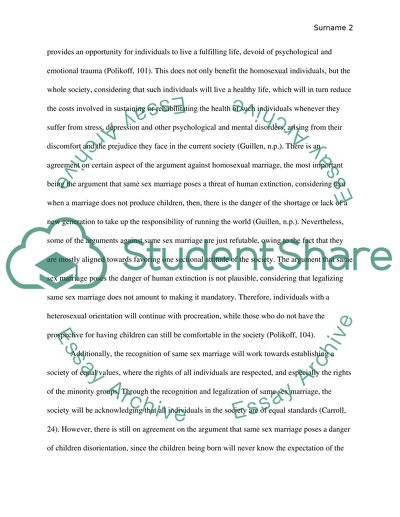 same sex marriage essay example  topics and well written essays  same sex marriage