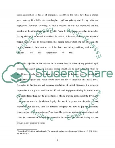 ENGLISH LEGAL SYSTEM-2, CASE STUDY essay example