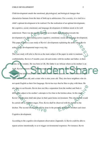 Child Development essay example