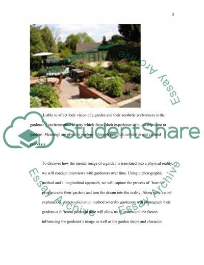 Garden Creation essay example
