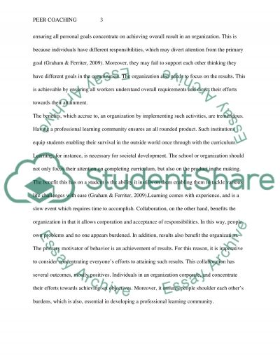 Assignment and Journal essay example