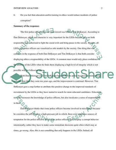 English Literature Essay Structure The Police Corruption Healthy Eating Habits Essay also How To Write An Essay High School Interview Analysis The Police Corruption Essay Personal Narrative Essay Examples High School