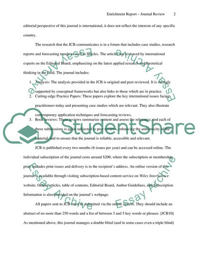 Enrichment Report ( marketing)