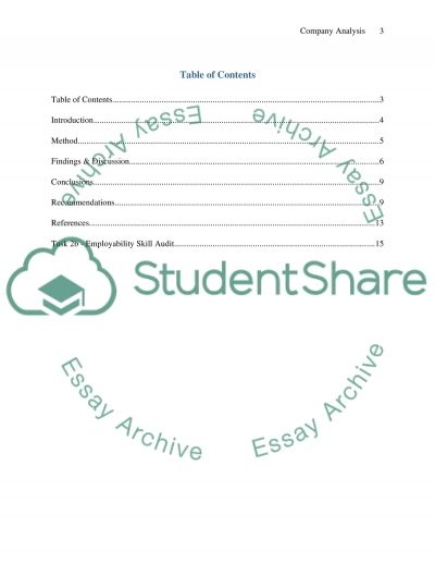 Company Analysis of Green Estate Company essay example