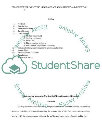 Strategies for Improving Nursing Staff Recruitment and Retention