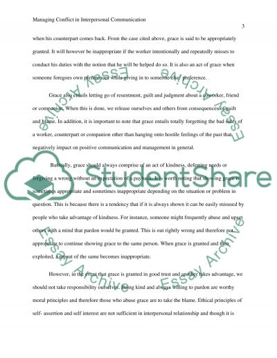 Managing Conflict in Interpersonal Communication essay example