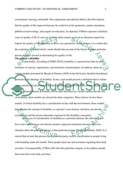 OBrien Case Study: An Individual Assignment